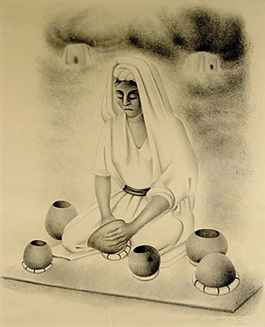 indian potter by francisco dosamantes