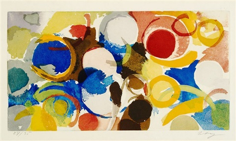 farbaquatinta 1957 3 by ernst wilhelm nay