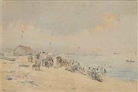 un dimanche en bord de mer by auguste ernest sembach