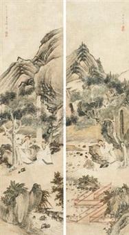 人物 (in 2 parts) by jiang lian