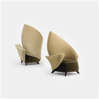 crispate chairs from the d'alba residence, glencoe (pair) by jordan mozer