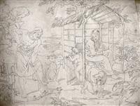 die heilige familie mit dem johannesknaben by gustav heinrich naeke