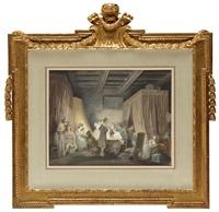 le coucher des ouvrières en modes (modearbeterskorna gåt till sängs) by niklas lafrensen the younger