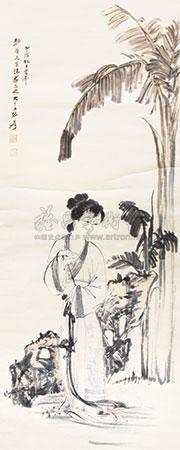 仕女图 by zhang daqian