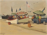 dories on the beach by florence upson young