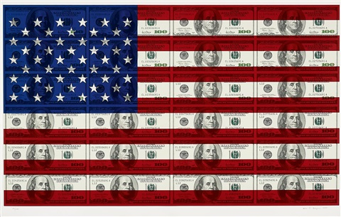 ohne titel 100 us flag by steven gagnon