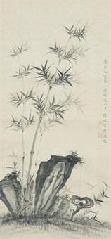 1935 乙亥 竹石图 by luo qingyuan