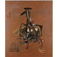 expanding brown dog by george condo
