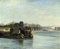 on the nile at aswan by wilhelm pacht