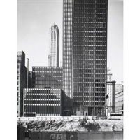 seagram building exterior evelations (2 works) by ezra stoller