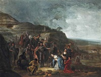 the meeting of david and abigail by jacob jacobsz de wet the younger