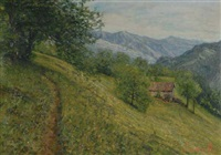 paesaggio montano by arnoldo soldini