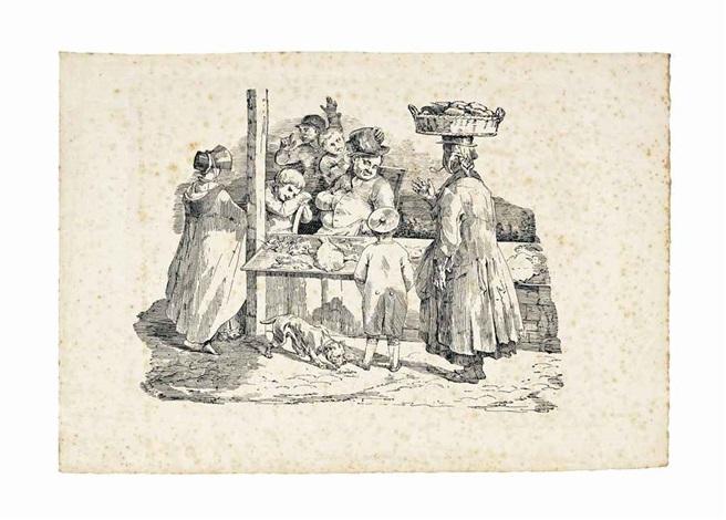 le marchand de poisson endormi anglais monté par un jockey chevaux conduits à la foire from etudes de chevaux and untitled 4 works by théodore géricault