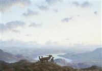 deer in highland landscape by ian macgillivray