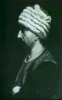 portrait d'homme au turban by pierre-frederic peyson