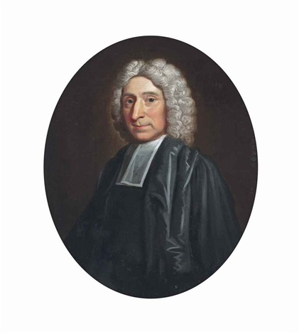portrait of a cleric half length in robes by john wollaston
