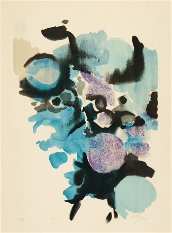 farblitho 1962 nor by ernst wilhelm nay