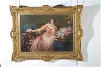 ritratto di donna con lettera in un interno by otolia kraszewska