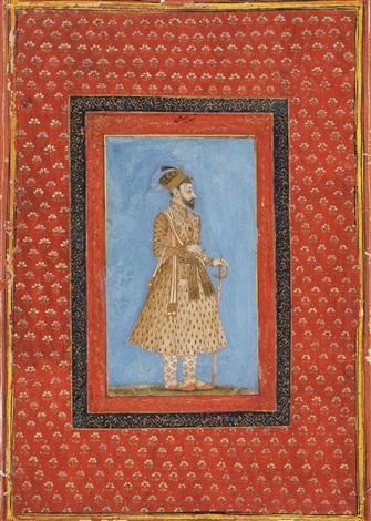 portrait eines raja mit schwert und katar by anonymous indian mughal