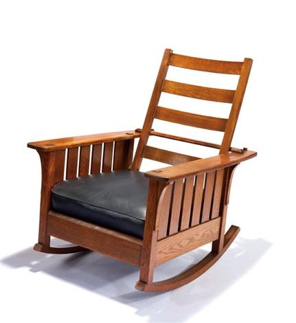 Phenomenal Reclining Rocker Model 475 By L J G Stickley On Artnet Machost Co Dining Chair Design Ideas Machostcouk