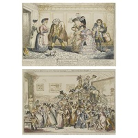 london dandies (+ 32 others, various sizes; 33 works) by george cruikshank