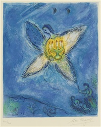 l'ange au chandelier by marc chagall