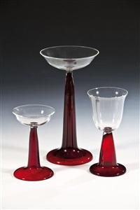 drei seltene trinkgläser (3 works) by peter behrens