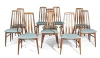 eva dining chairs (set of 10) by niels koefoed