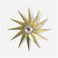 turbine wall clock (model 2240) by george nelson & associates