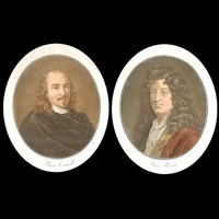 jean racine (+ pierre corneille; 2 works) by pierre-michel alix
