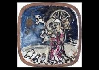 porcelain board by kanemon asai