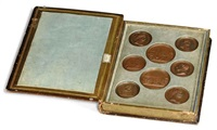 medallions of napoleon (set of 10) by jean-bertrand andrieu