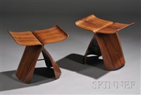 butterfly stools (2 works) by sori yanagi