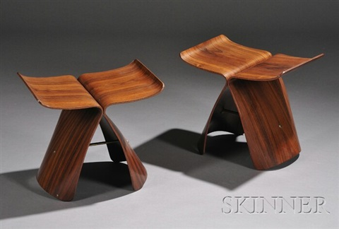 butterfly stools 2 works by sori yanagi