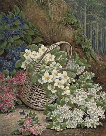 gathering flowers by henry j livens
