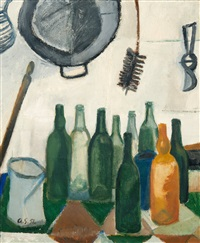still life with bottles by anita snellman