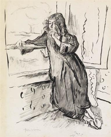 femme au fenêtre by jules pascin