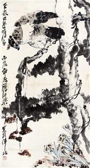 鹰 托片 设色纸本 by liang qi