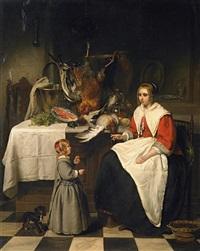 kücheninterieur by johannes christoffel vaarberg