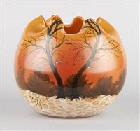 vase de forme boule by françois théodore legras