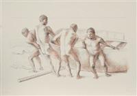 hombres con barca ii by francisco zúñiga