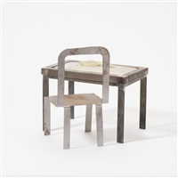 tableknot with chair (set of 2) by klaas gubbels and shinkichi tajiri