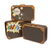suitcases (set of 3) by louis vuitton