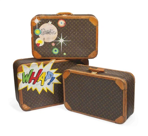 suitcases set of 3 by louis vuitton