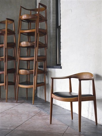 Bon Twelve Round Chairs, Model No. Jh501 By Hans J. Wegner