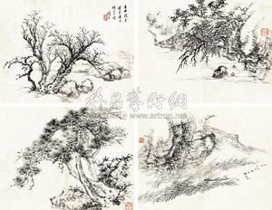 卧游小景 album w12 works by gu yun