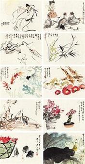 春色可人 (10 works) by various chinese artists