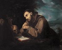 san francesco in preghiera by italian school-roman (17)
