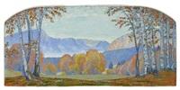 paysage d'automne by henry sandoz
