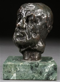 the man with the broken nose (l'homme au nez casse) by auguste rodin